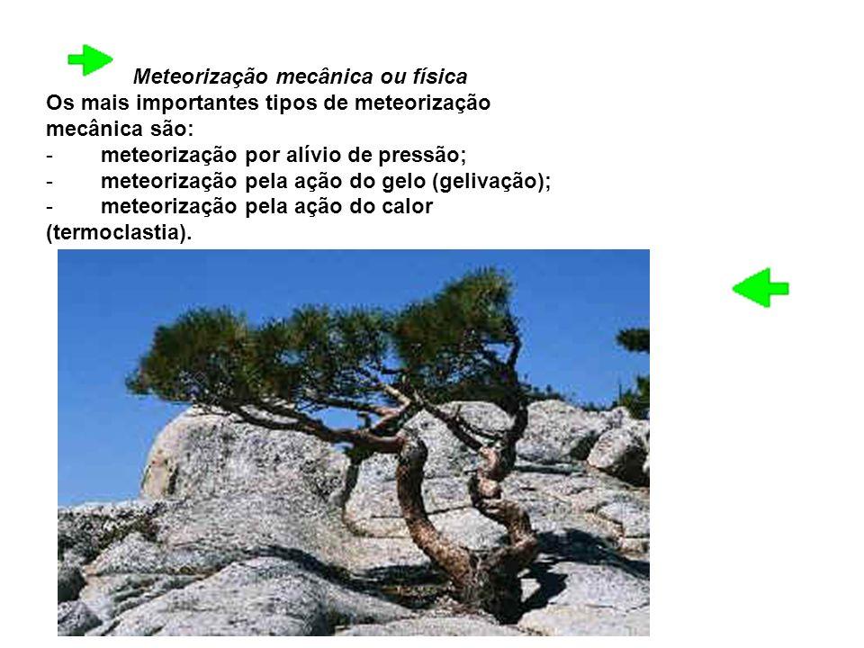 Meteorização mecânica ou física