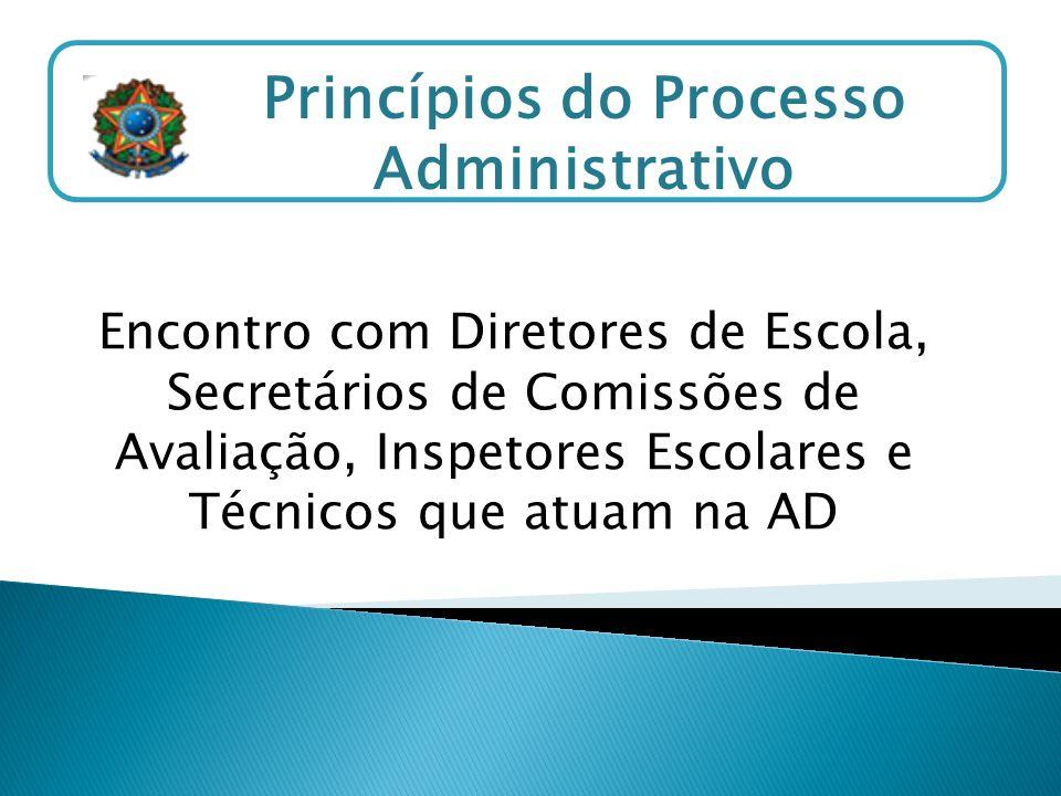 Princípios do Processo Administrativo