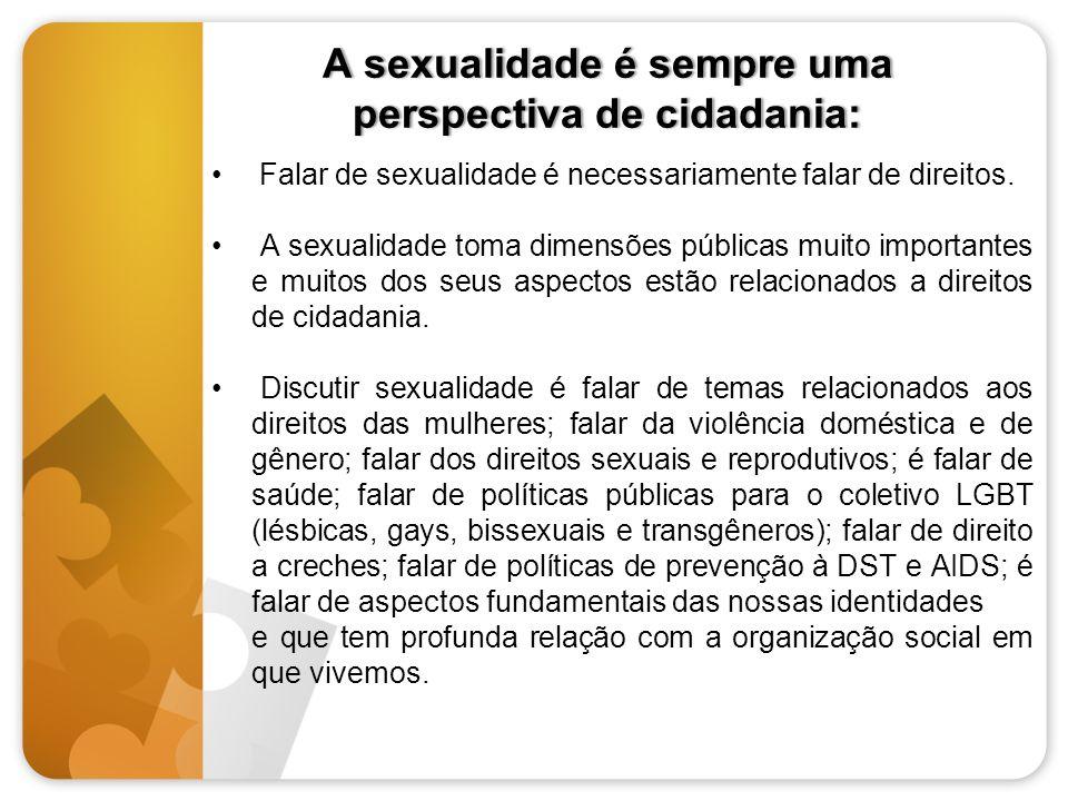 A sexualidade é sempre uma perspectiva de cidadania: