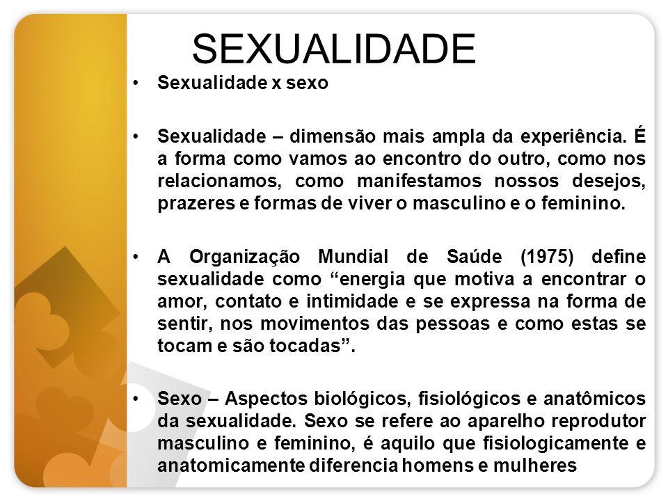 SEXUALIDADE Sexualidade x sexo