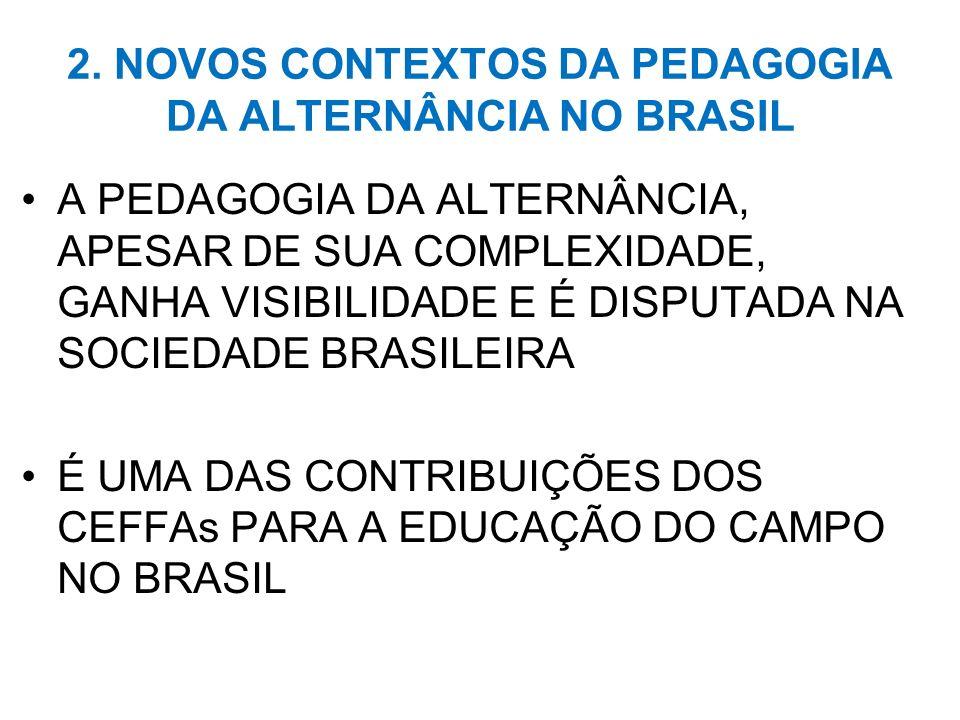 2. NOVOS CONTEXTOS DA PEDAGOGIA DA ALTERNÂNCIA NO BRASIL
