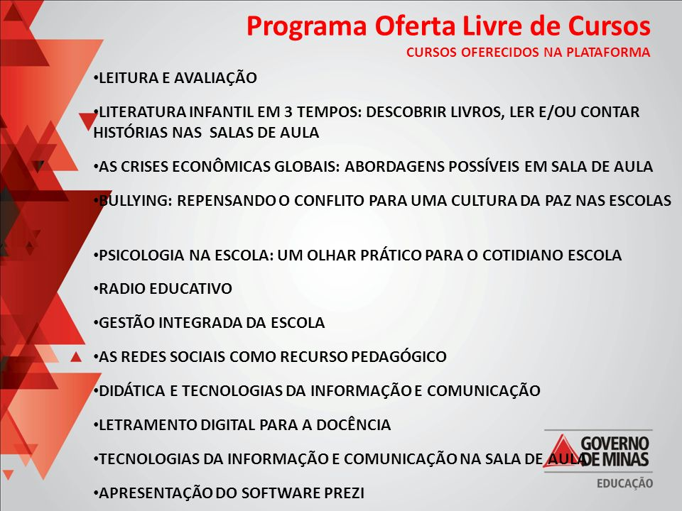 Programa Oferta Livre de Cursos