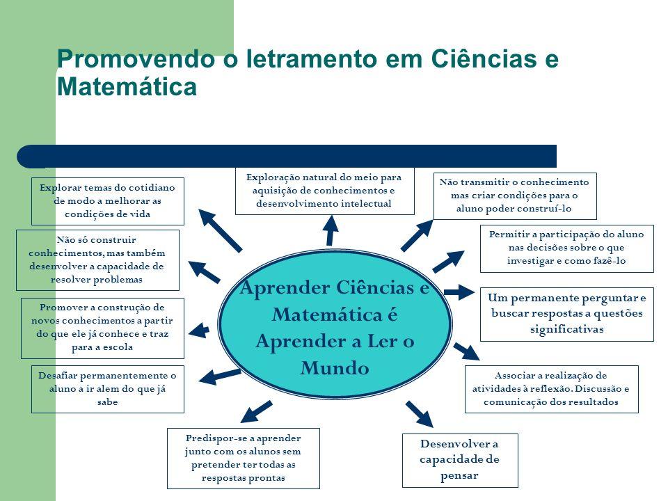 Promovendo o letramento em Ciências e Matemática