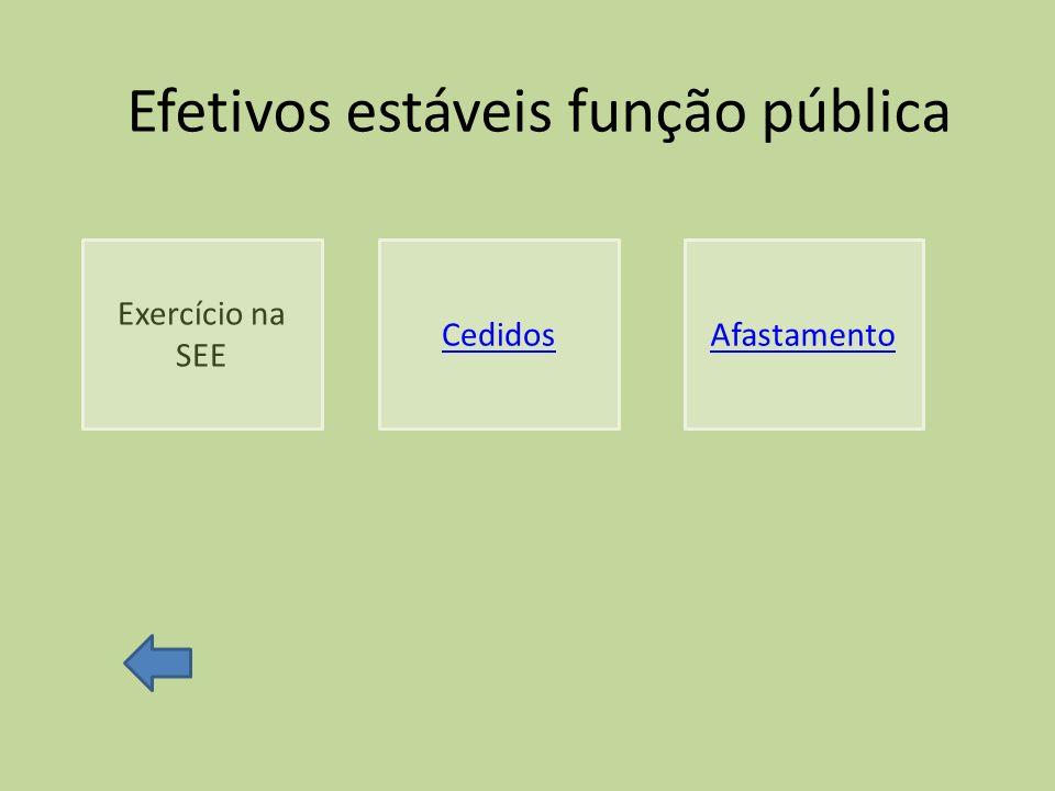 Efetivos estáveis função pública