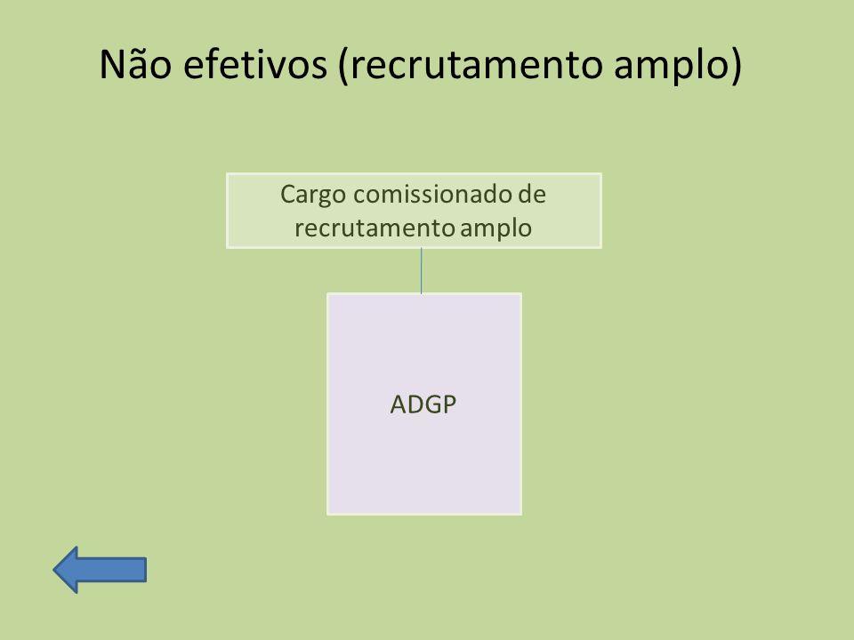 Não efetivos (recrutamento amplo)