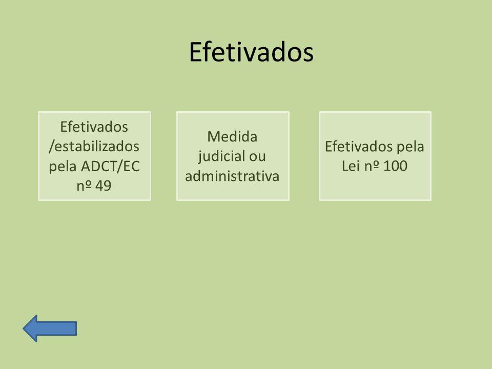Efetivados Efetivados /estabilizados pela ADCT/EC nº 49