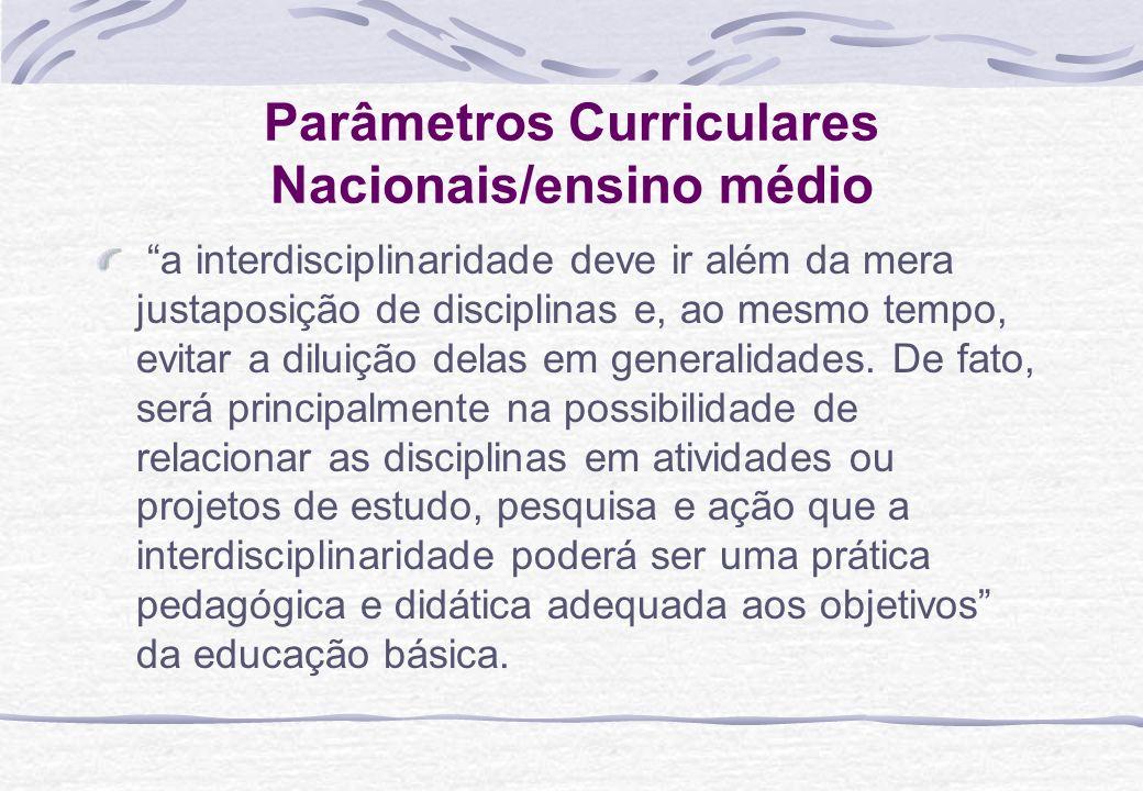 Parâmetros Curriculares Nacionais/ensino médio