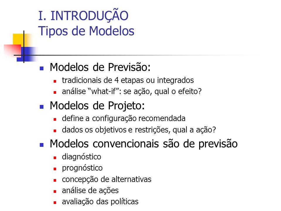 I. INTRODUÇÃO Tipos de Modelos