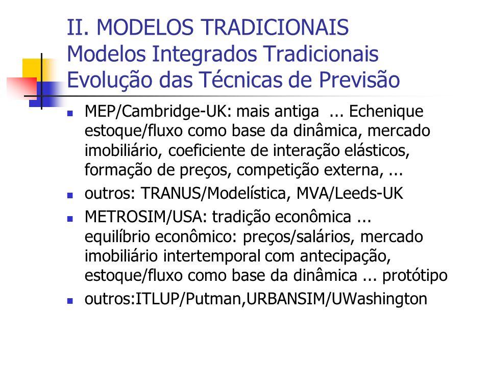 II. MODELOS TRADICIONAIS Modelos Integrados Tradicionais Evolução das Técnicas de Previsão
