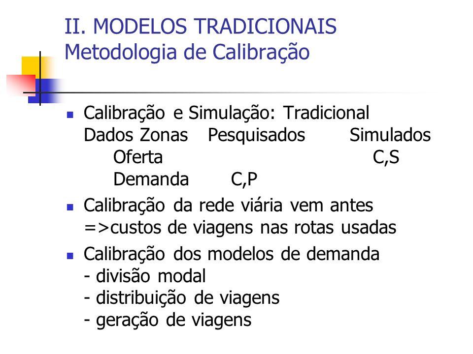 II. MODELOS TRADICIONAIS Metodologia de Calibração