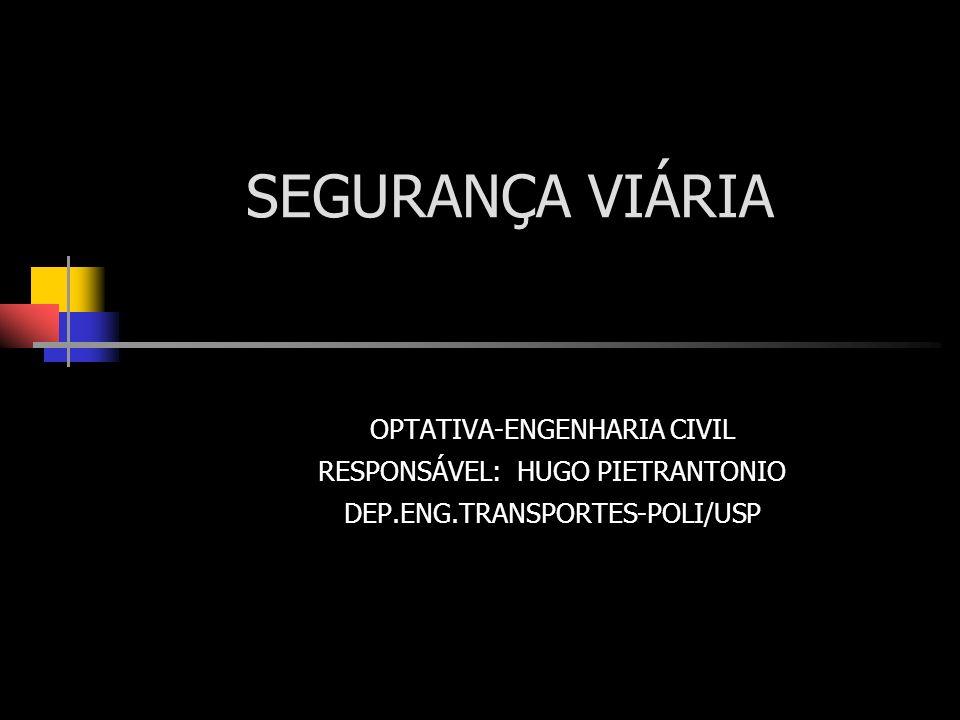 SEGURANÇA VIÁRIA OPTATIVA-ENGENHARIA CIVIL