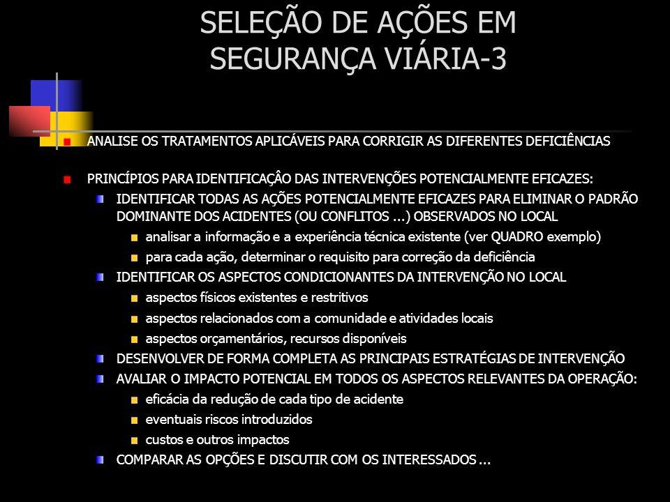 SELEÇÃO DE AÇÕES EM SEGURANÇA VIÁRIA-3