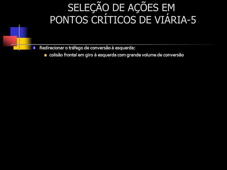 SELEÇÃO DE AÇÕES EM PONTOS CRÍTICOS DE VIÁRIA-5