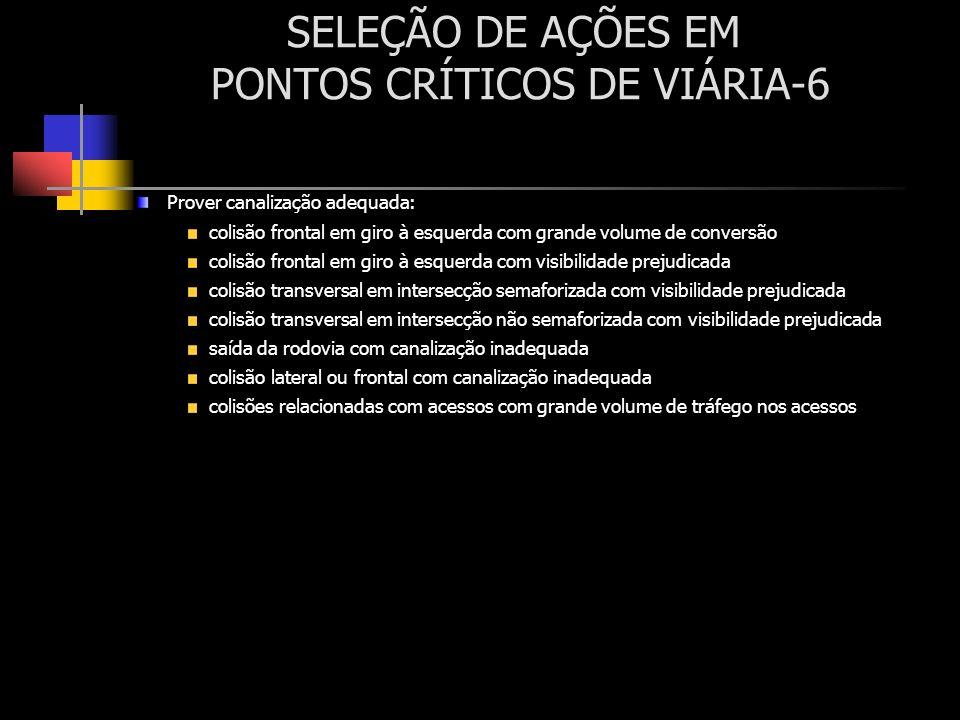 SELEÇÃO DE AÇÕES EM PONTOS CRÍTICOS DE VIÁRIA-6