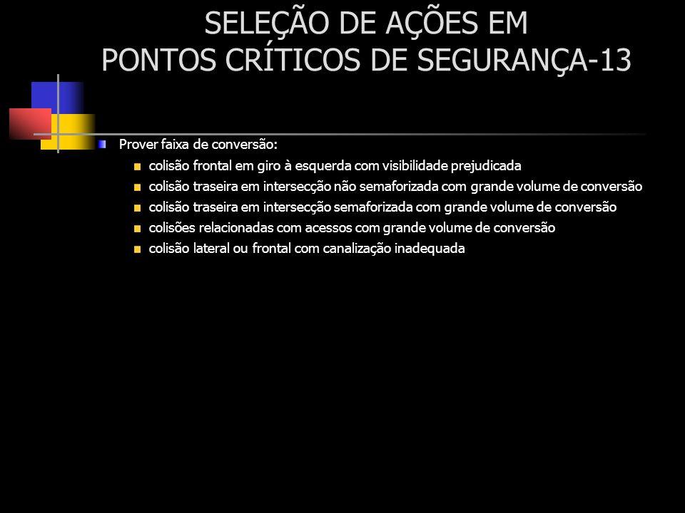 SELEÇÃO DE AÇÕES EM PONTOS CRÍTICOS DE SEGURANÇA-13