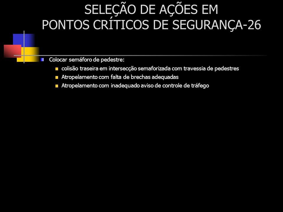 SELEÇÃO DE AÇÕES EM PONTOS CRÍTICOS DE SEGURANÇA-26