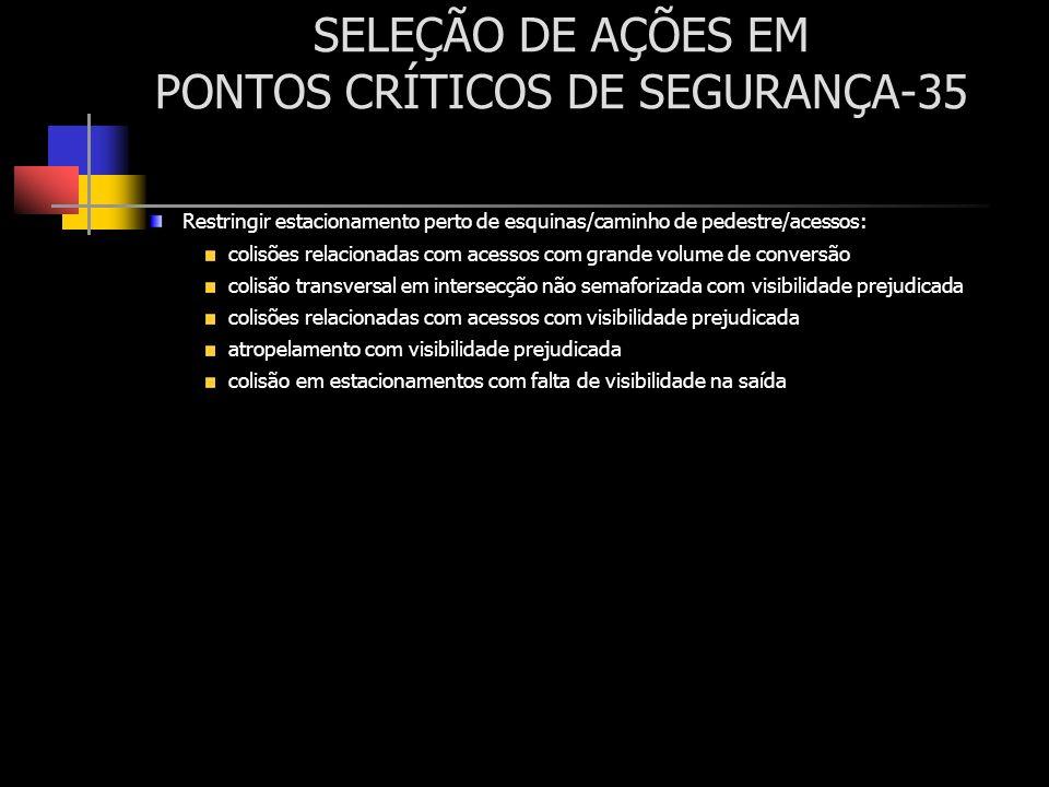 SELEÇÃO DE AÇÕES EM PONTOS CRÍTICOS DE SEGURANÇA-35