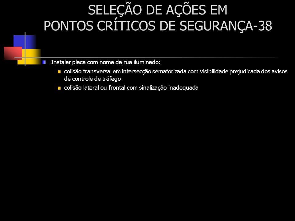 SELEÇÃO DE AÇÕES EM PONTOS CRÍTICOS DE SEGURANÇA-38