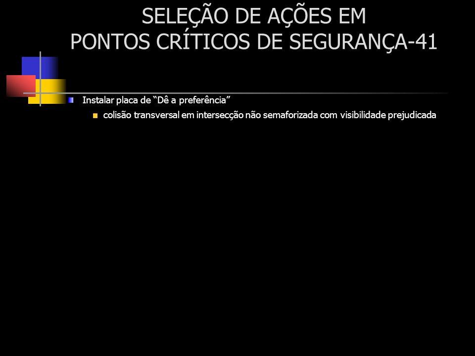 SELEÇÃO DE AÇÕES EM PONTOS CRÍTICOS DE SEGURANÇA-41