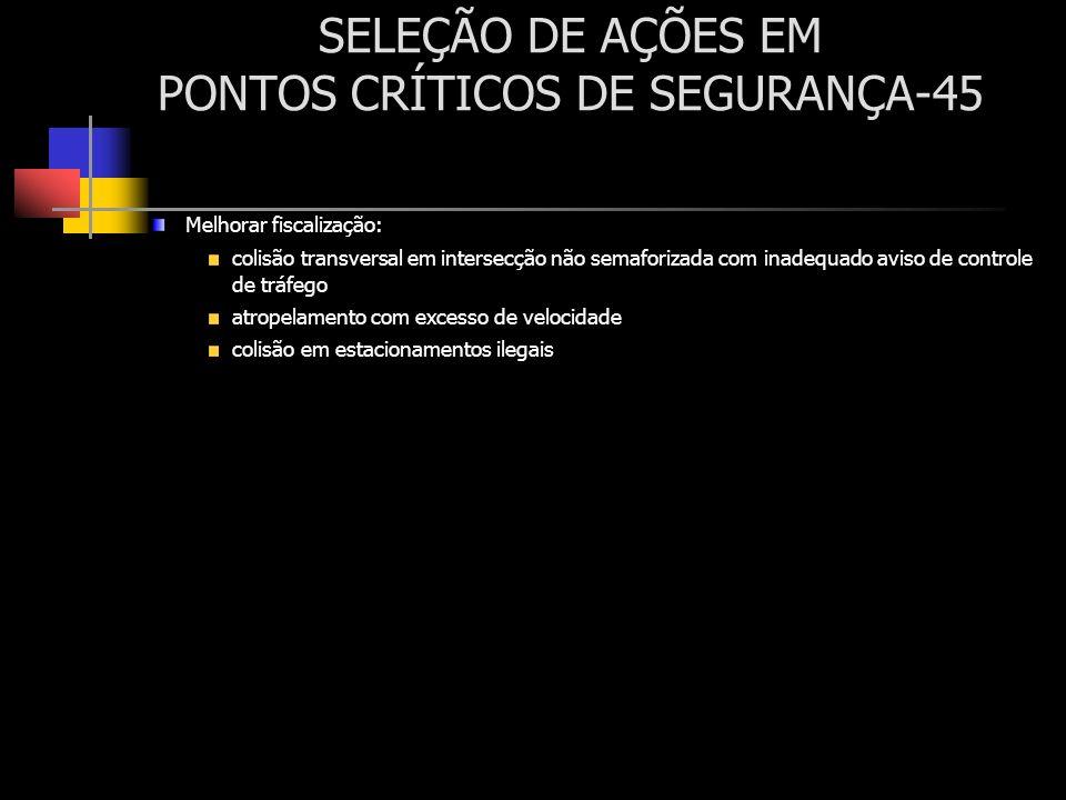 SELEÇÃO DE AÇÕES EM PONTOS CRÍTICOS DE SEGURANÇA-45