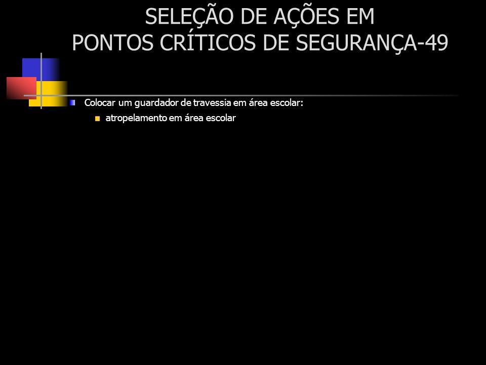 SELEÇÃO DE AÇÕES EM PONTOS CRÍTICOS DE SEGURANÇA-49
