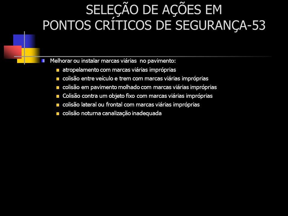SELEÇÃO DE AÇÕES EM PONTOS CRÍTICOS DE SEGURANÇA-53