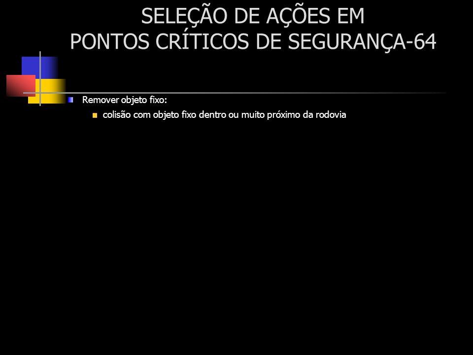 SELEÇÃO DE AÇÕES EM PONTOS CRÍTICOS DE SEGURANÇA-64