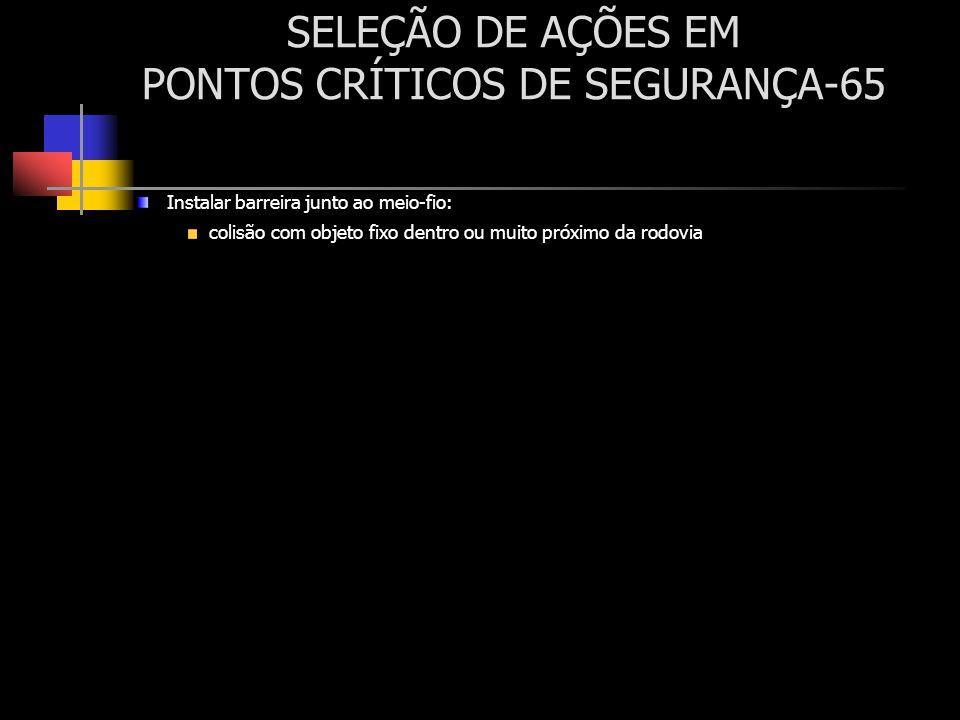 SELEÇÃO DE AÇÕES EM PONTOS CRÍTICOS DE SEGURANÇA-65