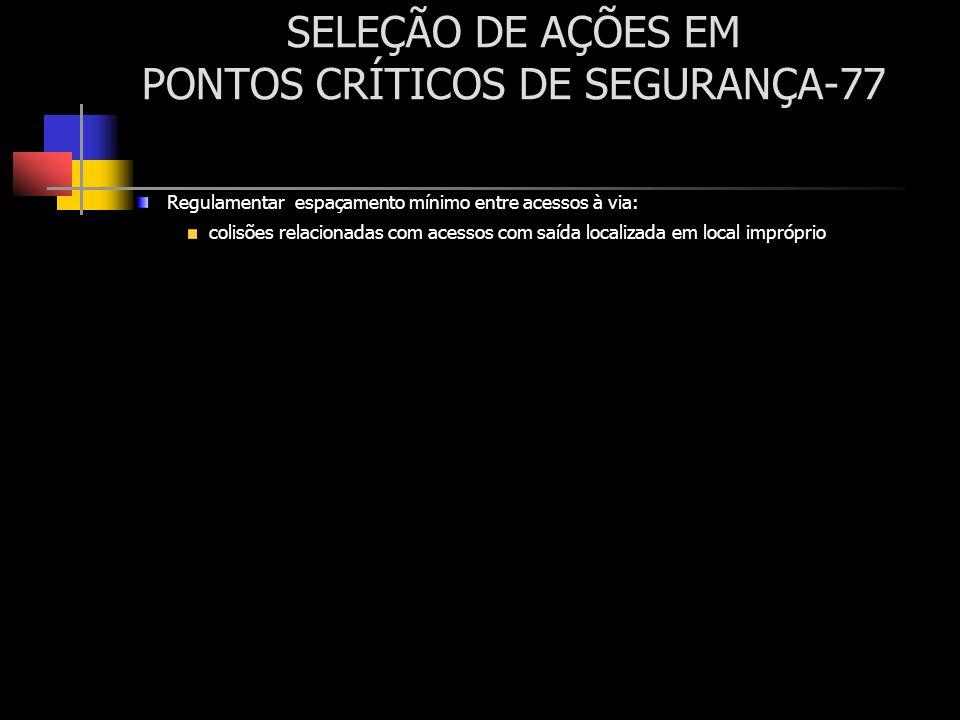 SELEÇÃO DE AÇÕES EM PONTOS CRÍTICOS DE SEGURANÇA-77
