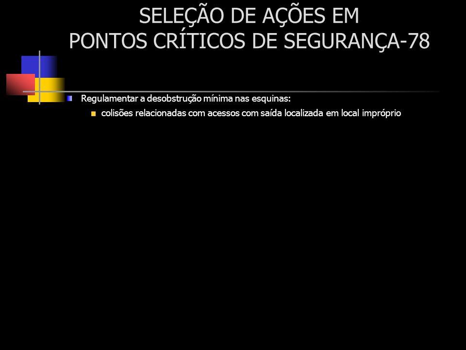 SELEÇÃO DE AÇÕES EM PONTOS CRÍTICOS DE SEGURANÇA-78