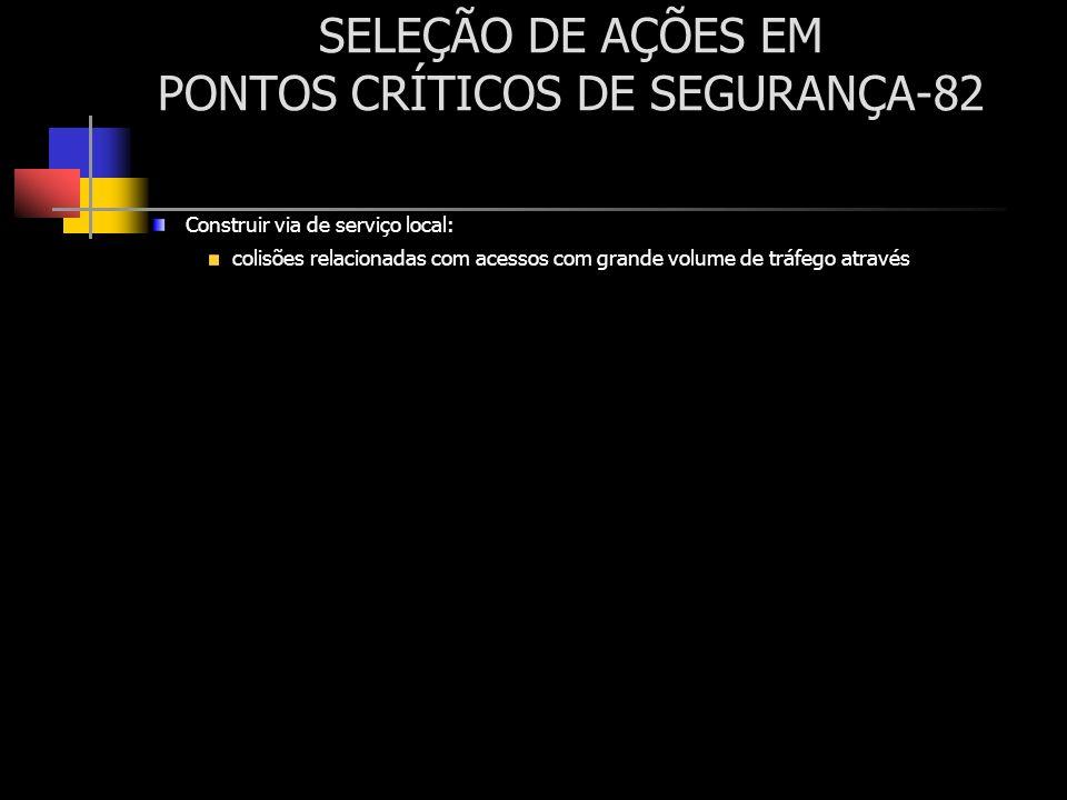 SELEÇÃO DE AÇÕES EM PONTOS CRÍTICOS DE SEGURANÇA-82