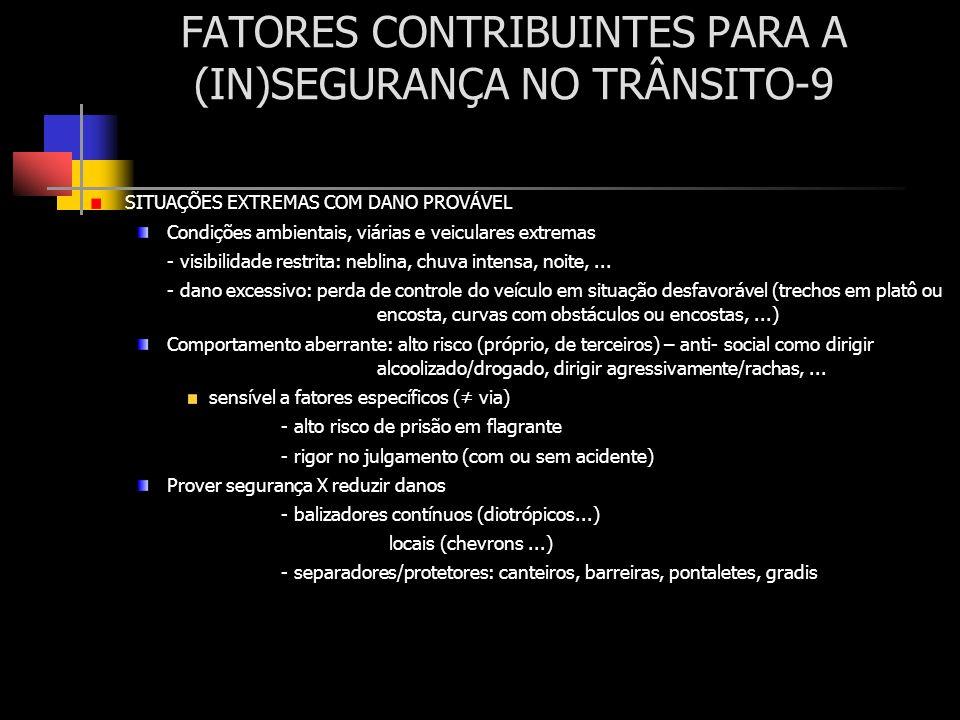 FATORES CONTRIBUINTES PARA A (IN)SEGURANÇA NO TRÂNSITO-9