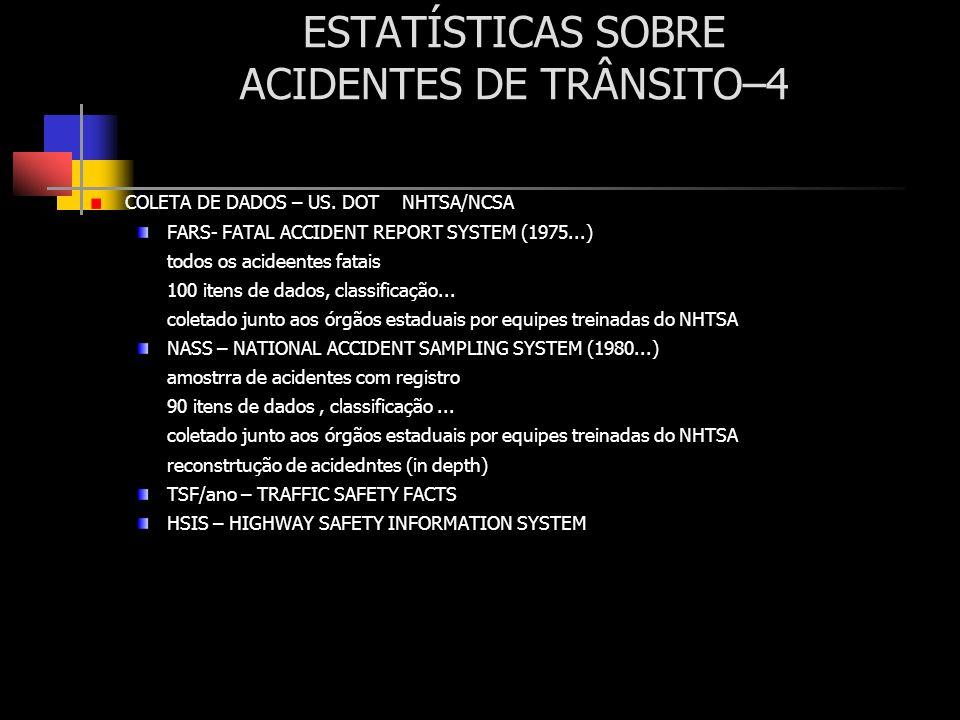 ESTATÍSTICAS SOBRE ACIDENTES DE TRÂNSITO–4