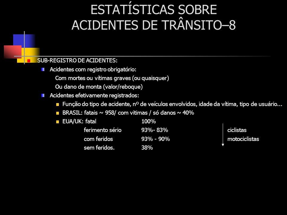 ESTATÍSTICAS SOBRE ACIDENTES DE TRÂNSITO–8