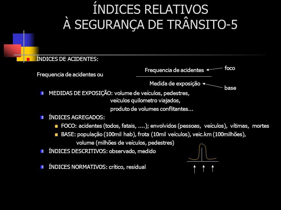 ÍNDICES RELATIVOS À SEGURANÇA DE TRÂNSITO-5
