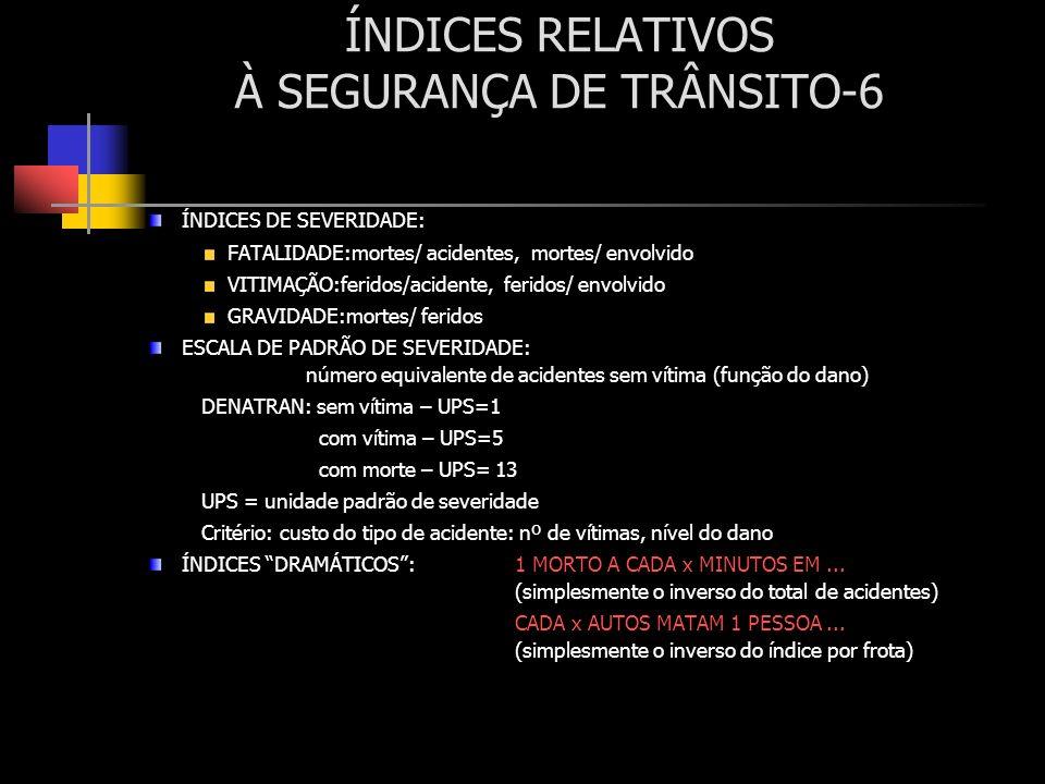 ÍNDICES RELATIVOS À SEGURANÇA DE TRÂNSITO-6
