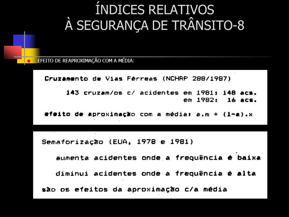 ÍNDICES RELATIVOS À SEGURANÇA DE TRÂNSITO-8