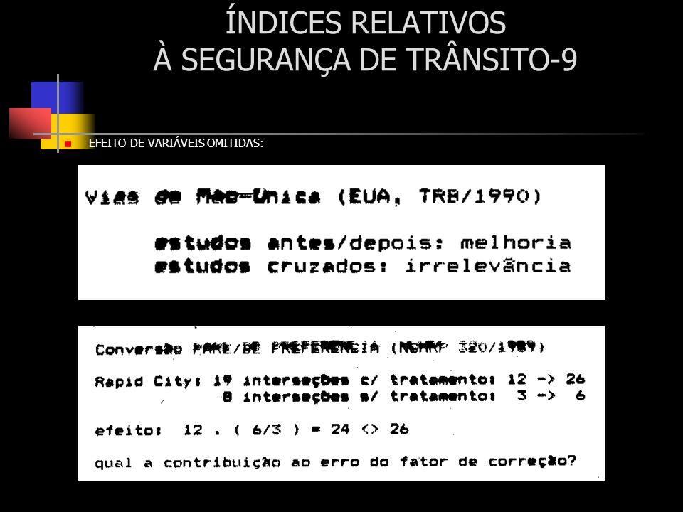 ÍNDICES RELATIVOS À SEGURANÇA DE TRÂNSITO-9