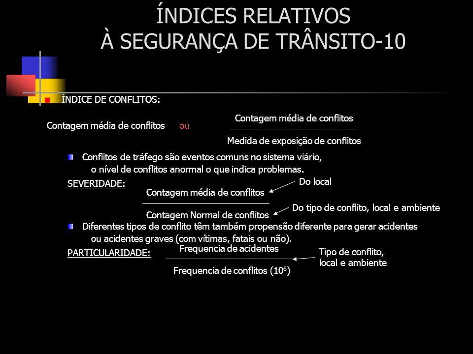ÍNDICES RELATIVOS À SEGURANÇA DE TRÂNSITO-10