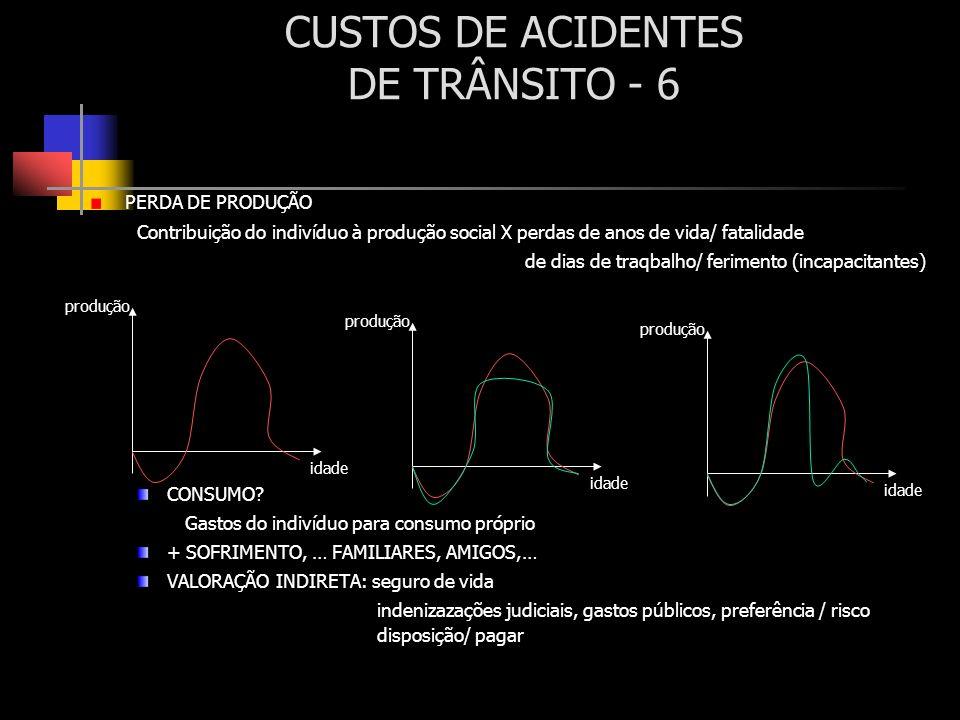 CUSTOS DE ACIDENTES DE TRÂNSITO - 6