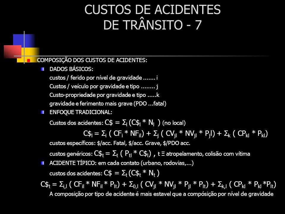 CUSTOS DE ACIDENTES DE TRÂNSITO - 7