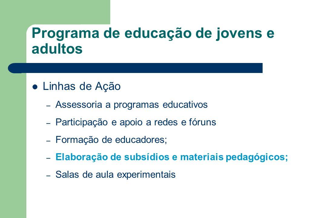 Programa de educação de jovens e adultos