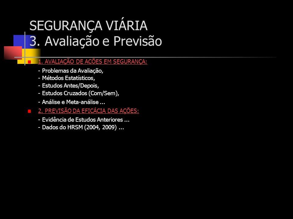 SEGURANÇA VIÁRIA 3. Avaliação e Previsão