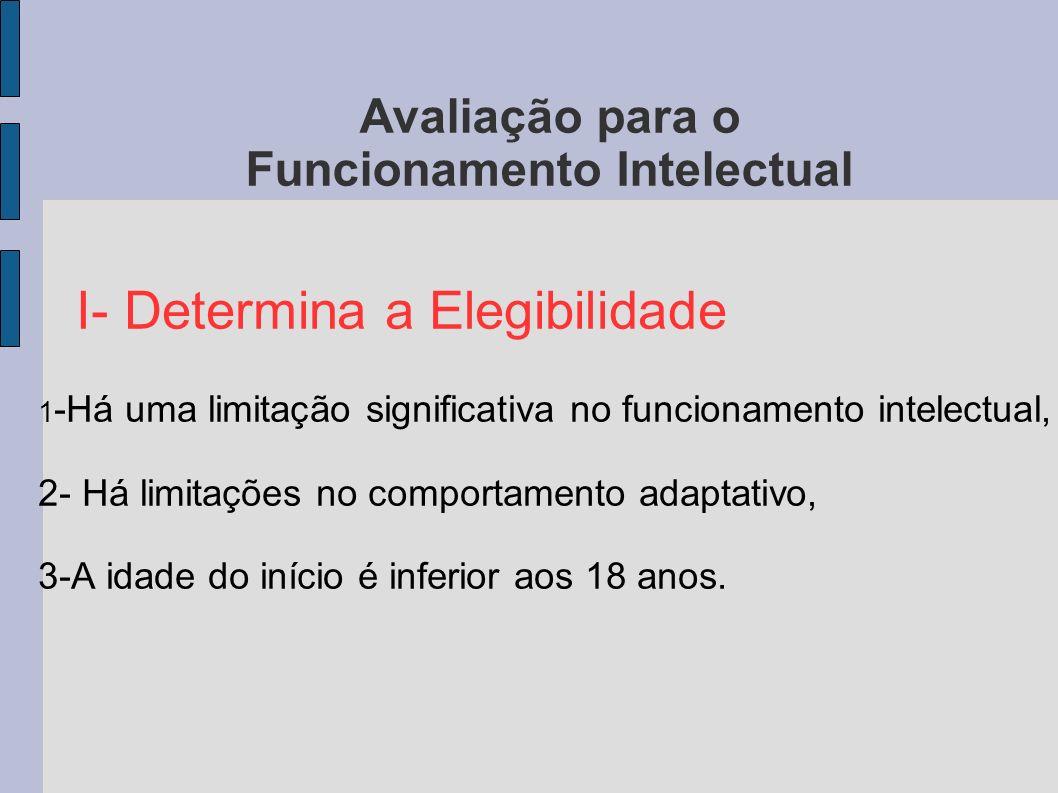 Avaliação para o Funcionamento Intelectual