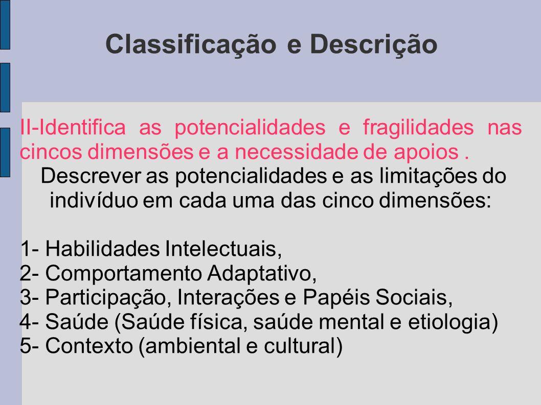Classificação e Descrição