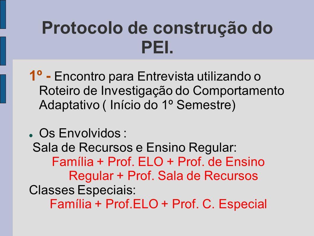 Protocolo de construção do PEI.