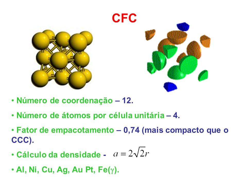 CFC Número de coordenação – 12.