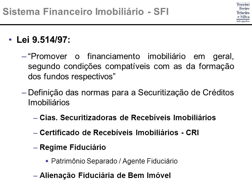 Sistema Financeiro Imobiliário - SFI
