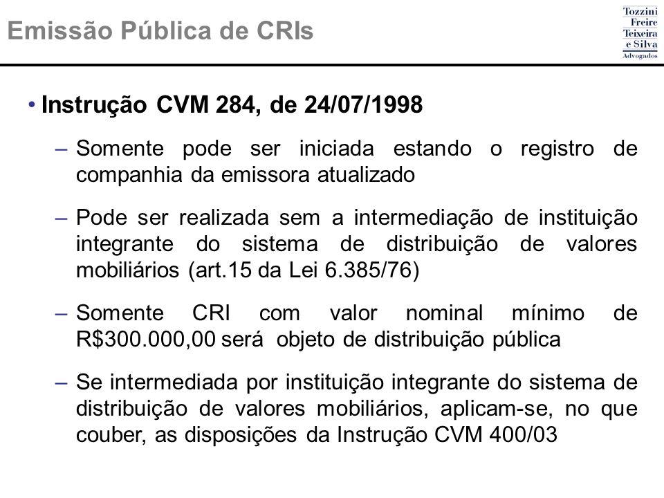 Emissão Pública de CRIs
