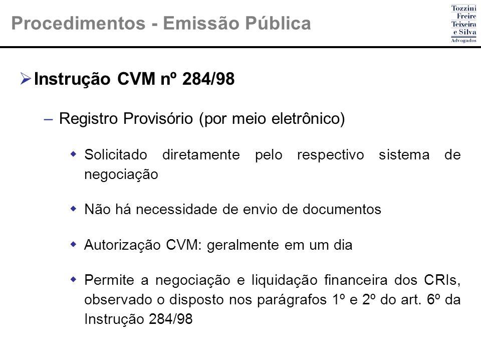 Procedimentos - Emissão Pública
